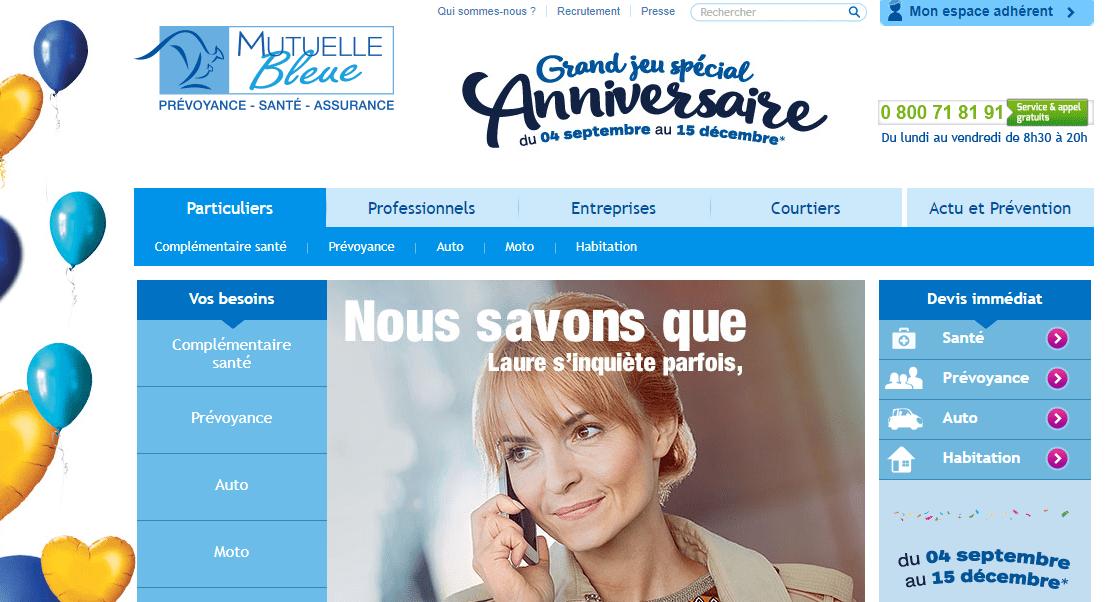site lmutuellebleue.fr
