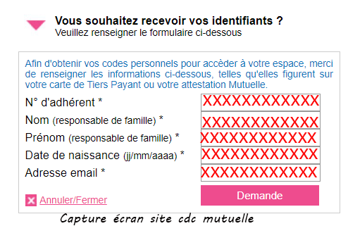 creer compte cdc mutuelle