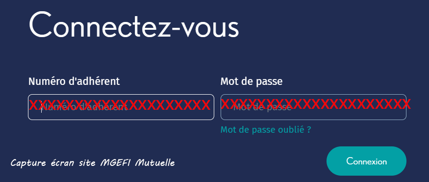 acces compte MGEFI Mutuelle